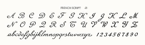 FRENCH SCRIPT 03