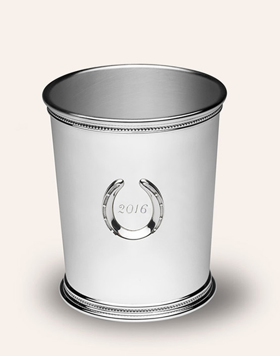 MINT JULEP CUP WITH HORSESHOE