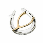 Wishing You Good Luck Lapel Pin in Sterling Silver and 14k Gold