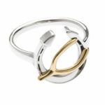 Wishing You Good Luck Ring in Sterling Silver and 14k Gold