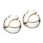 Wishing You Good Luck Stud Earrings in Sterling Silver and 14k Gold