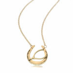Wishing You Good Luck Large Horseshoe Pendant in 14K